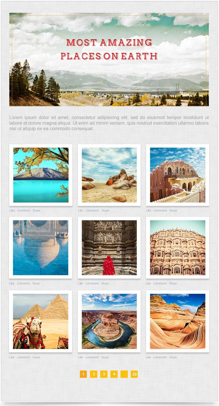 Photo Gallery Facebook application