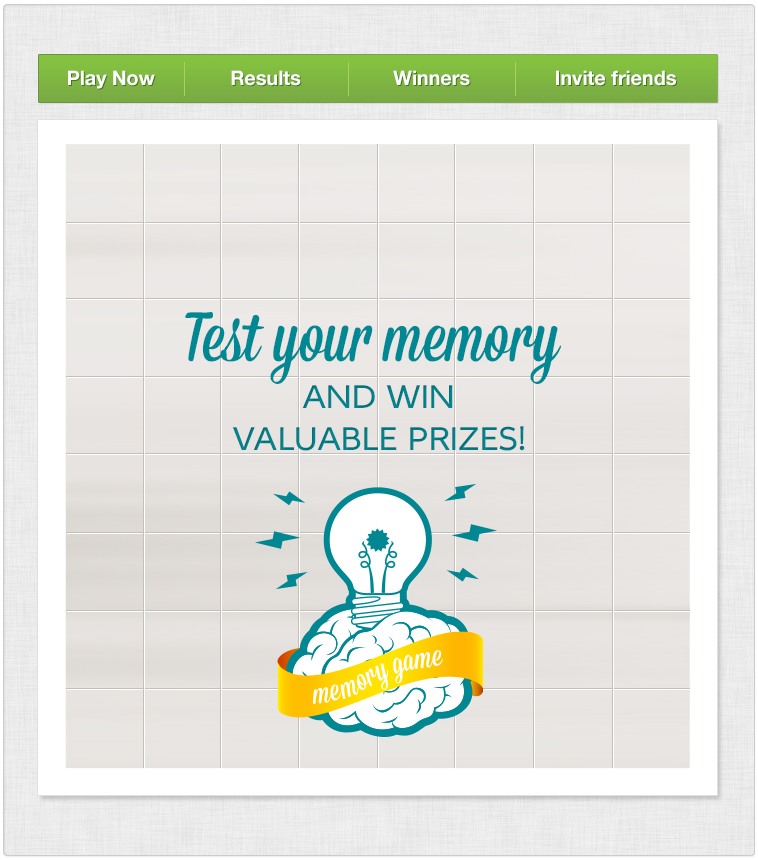 Memory Game Facebook application